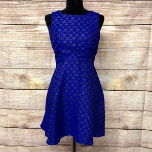 NWT Maison Jules Fit and Flare Geometric Dress
